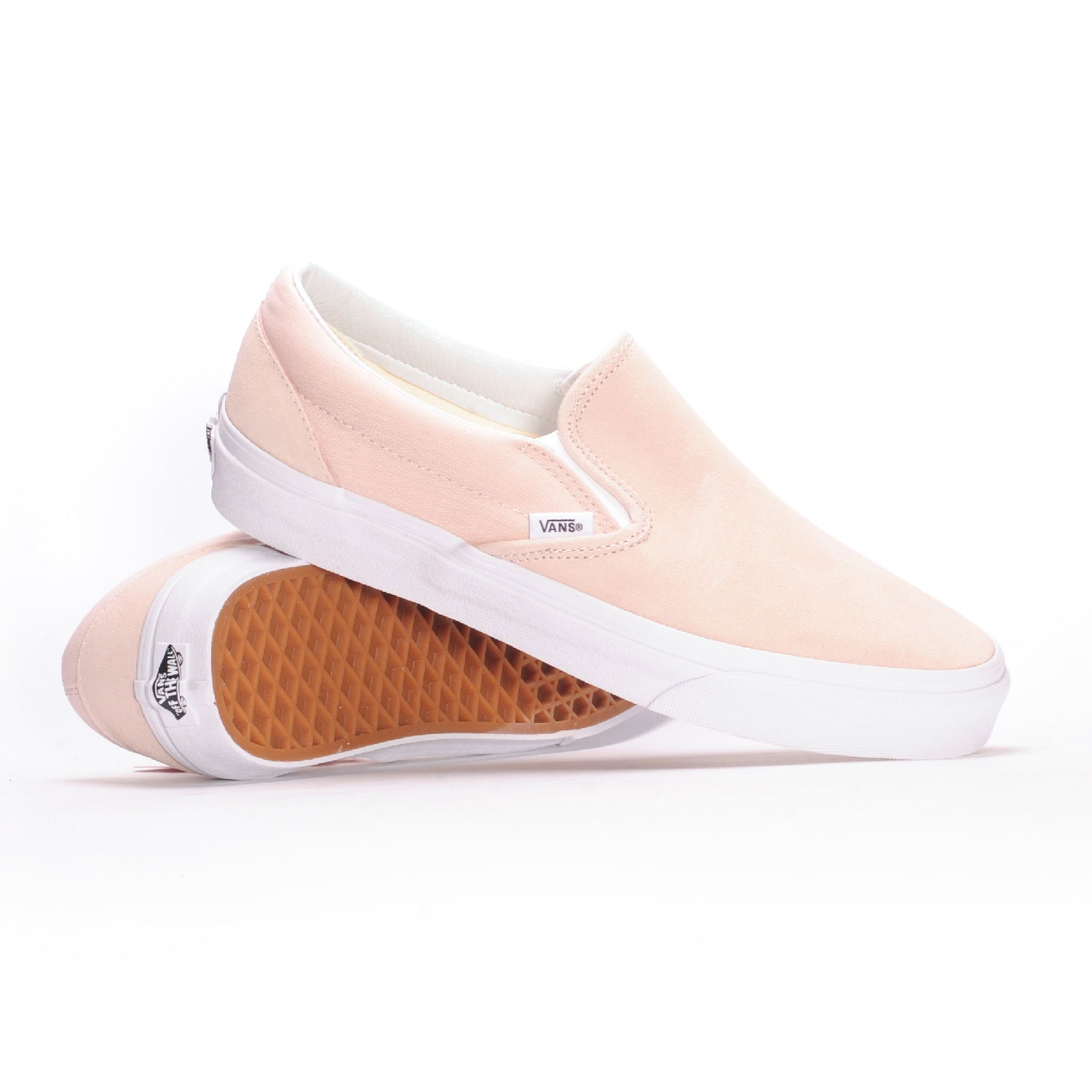 e32d91bf80 Vans Classic Slip-On (Suede Sepia Rose) Men s Skate Shoes