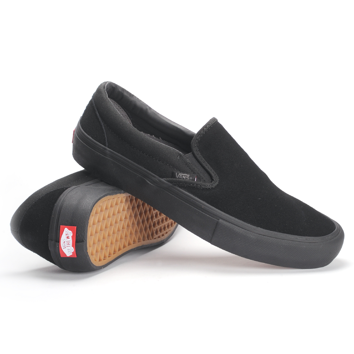 bb331c3fe8a Buy all black vans slip ons