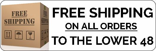 100% FREE Shipping on Orders to the Lower 48 States