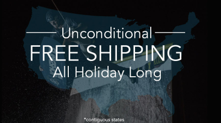 Unconditional Free Shipping...All Holiday Long!