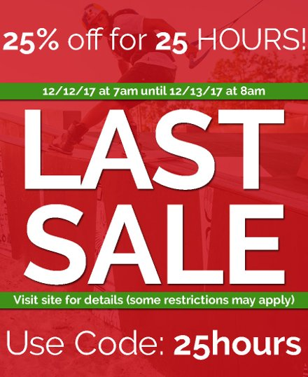 Last Sale of the Year: 25% OFF for 25 Hours