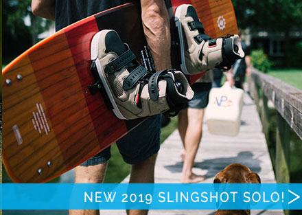The best crossover wakeboard!  New Slingshot Solo!